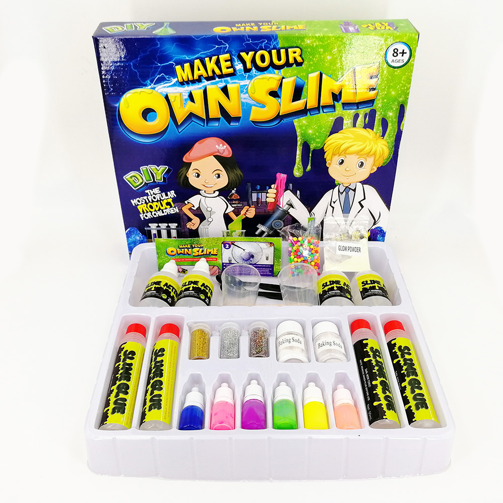 6 Colors DIY Slime Kit Fluffy Crystal Play Game for Kids Toy Jelly Magic Plasticine Intelligent