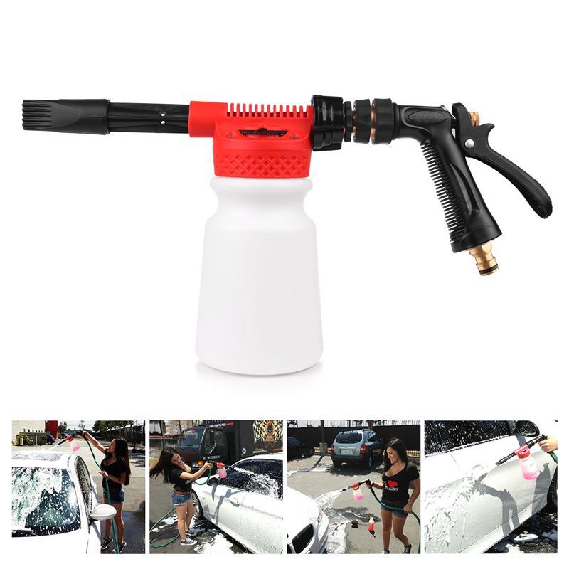 High Quality Garden Water Hose Foamer Gun, Garden Hose Foam Lance For Car Pre Washing 900ml Water Soap Shampoo Sprayer Gun