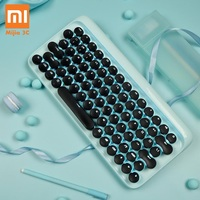 Xiaomi Mechanical Bluetooth 79Key Keyboard LED Backlit USB Ports for Laptop Desktop Tablets Computers Gaming Keyboard Typewriter