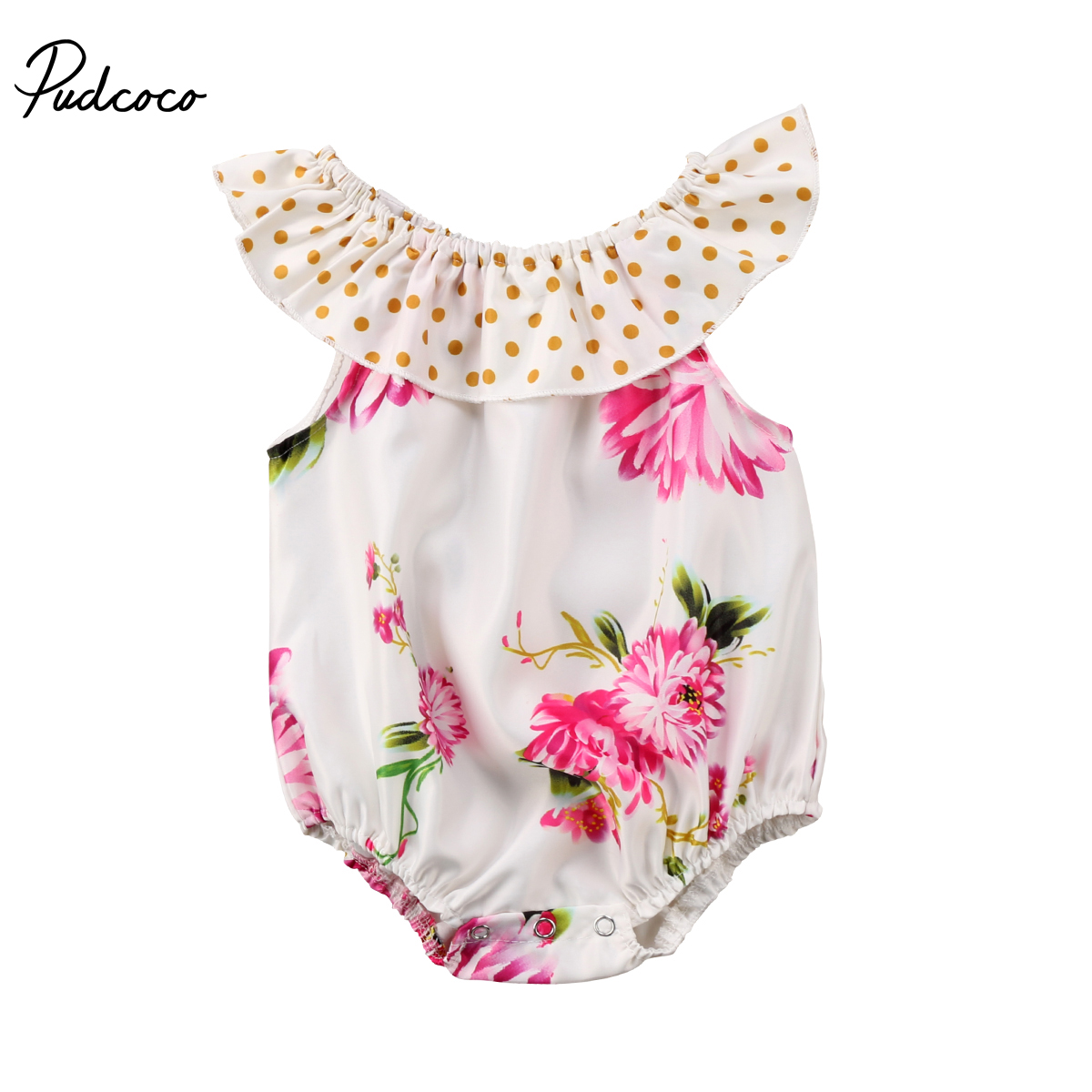 Flower Girls Clothing Newborn Baby Girls Floral Romper Jumpsuit Cute Baby Girls Clothes Outfit 0-2T