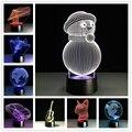 2017 Creativo Minions 3D Proyector de La Noche Luz Lampara 7 Color cambio de Acrílico Lámpara de Mesa LED USB como Niños Junto Dormitorio regalo