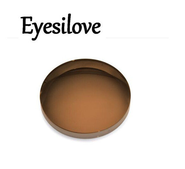Eyesilove customized myopia sunglasses lenses aspheric UV CR39 resin lenses optical sun glasses lenses grey and brown color