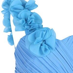 Image 5 - 2020 iEFiEL Mädchen Chiffon schulter Blume Mädchen Kleid Prinzessin Pageant Hochzeit Brautjungfer Geburtstag Party Kleid Ballkleid Pro