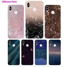 Silicone Case Gold Pink glitter for Huawei Nova 3 4 Honor 7C 7A 8 8X 9 10 Y5 Y6 Y7 Y9 V20 Lite Pro 2019 2018 Cover