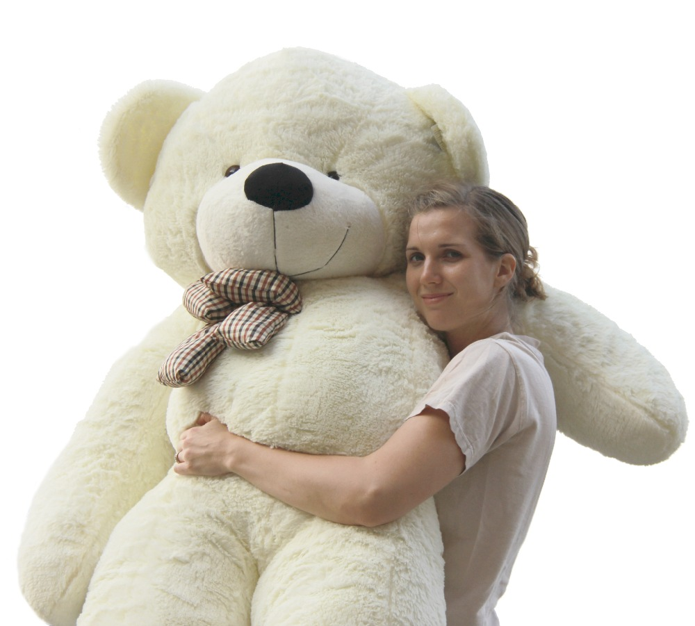 Joyfay White 78'' 2m Giant Teddy Bear 2m Stuffed Plush Animals Peluche Gigante Toy gift for Christmas Birthday Christmas gift mr froger carcharodon megalodon model giant tooth shark sphyrna aquatic creatures wild animals zoo modeling plastic sea lift toy