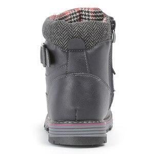 Image 2 - MMnun 2018 مقاوم للماء أحذية الشتاء الفتيان الشتاء حذاء من الجلد الصوفية أفخم حذاء الثلج عالي الرقبة دافئ للأطفال حجم 32 37 ML9849