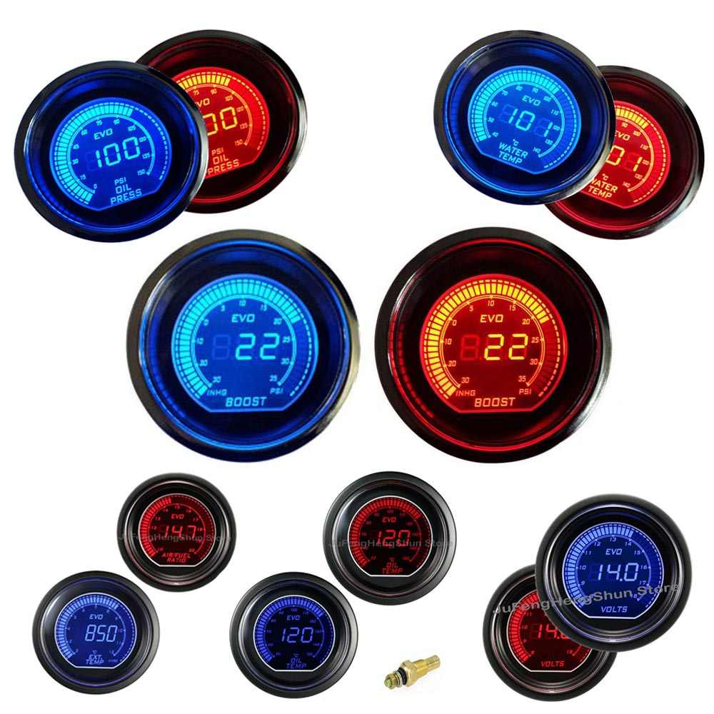small resolution of 52mm car gauge turbo boost water temperature oil pressure air fuel level ratio volt tachometer exhaust