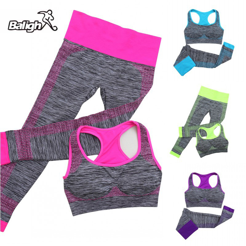 Balight <font><b>2018</b></font> <font><b>Yoga</b></font> Set Women <font><b>Sports</b></font> Bra <font><b>Sexy</b></font> Push Up Gym Breathable <font><b>Fitness</b></font> Running Clothes Workout <font><b>Sport</b></font> Costumes For Women Capr image