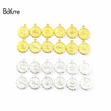 BoYuTe (12 Pieces/Set) Metal Brass 12MM Mix Zodiac Charms Fo