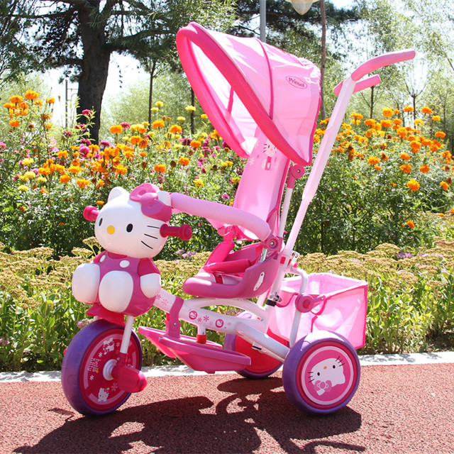 Children tricycle hello Kitty trolley South Korea baby bike girl gifts for children bicycle