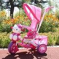 Triciclo de niños hello Kitty trolley bebé Corea Del Sur chica moto regalos para los niños de la bicicleta