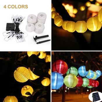 Kaigelin 30 LED Solar String Lights Lantern Ball Outdoor Lighting Solar Lamp Fairy Globe Christmas Decor Light for Party Holiday 3