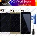 5.5 дюймов черный белое золото 100% Оригинальный ЖК-Дисплей + сенсорный экран ассамблея дигитайзер для xiaomi redmi note 3