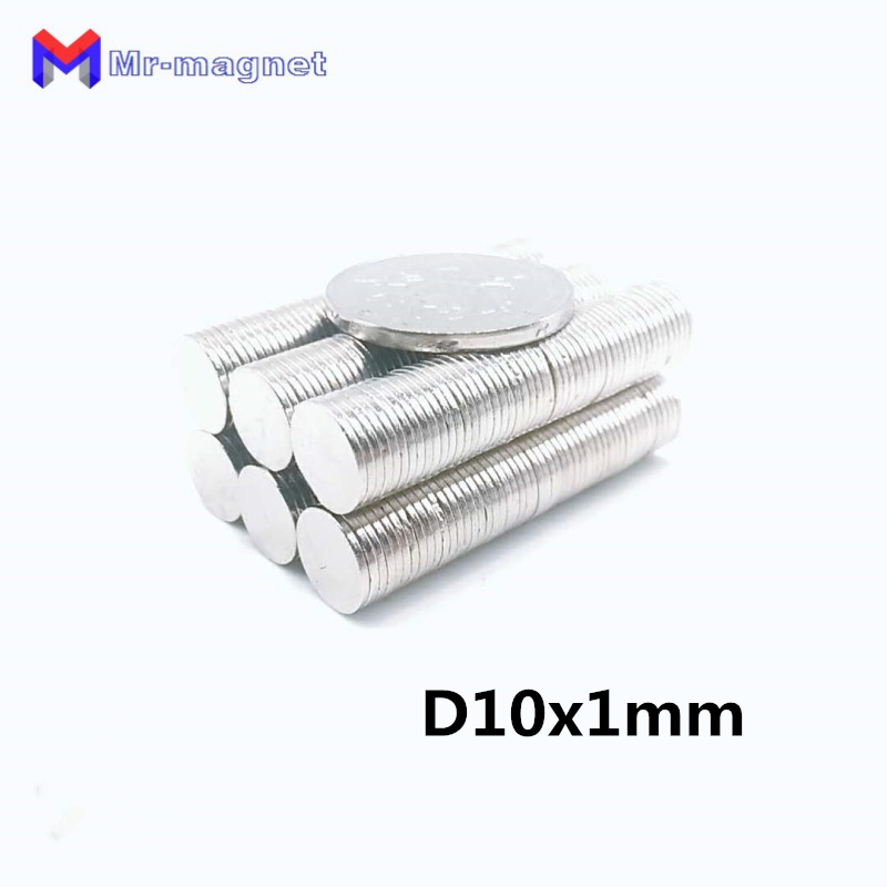 1000pcs 10x1mm magnet 10x1 Super strong sticking neo neodymium D10x1 magnets N35 D10x1mm 10x1 permanent magnet