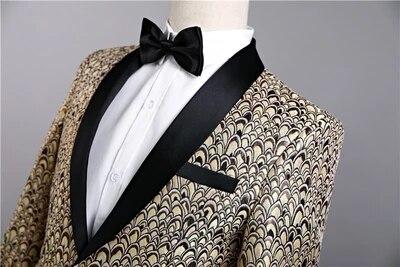 New Star Brand Men Blazer Slim Fit Fancy Blazers Married Korean Men Stage Costumes For Singers Blazers Mens Party Suit - 2