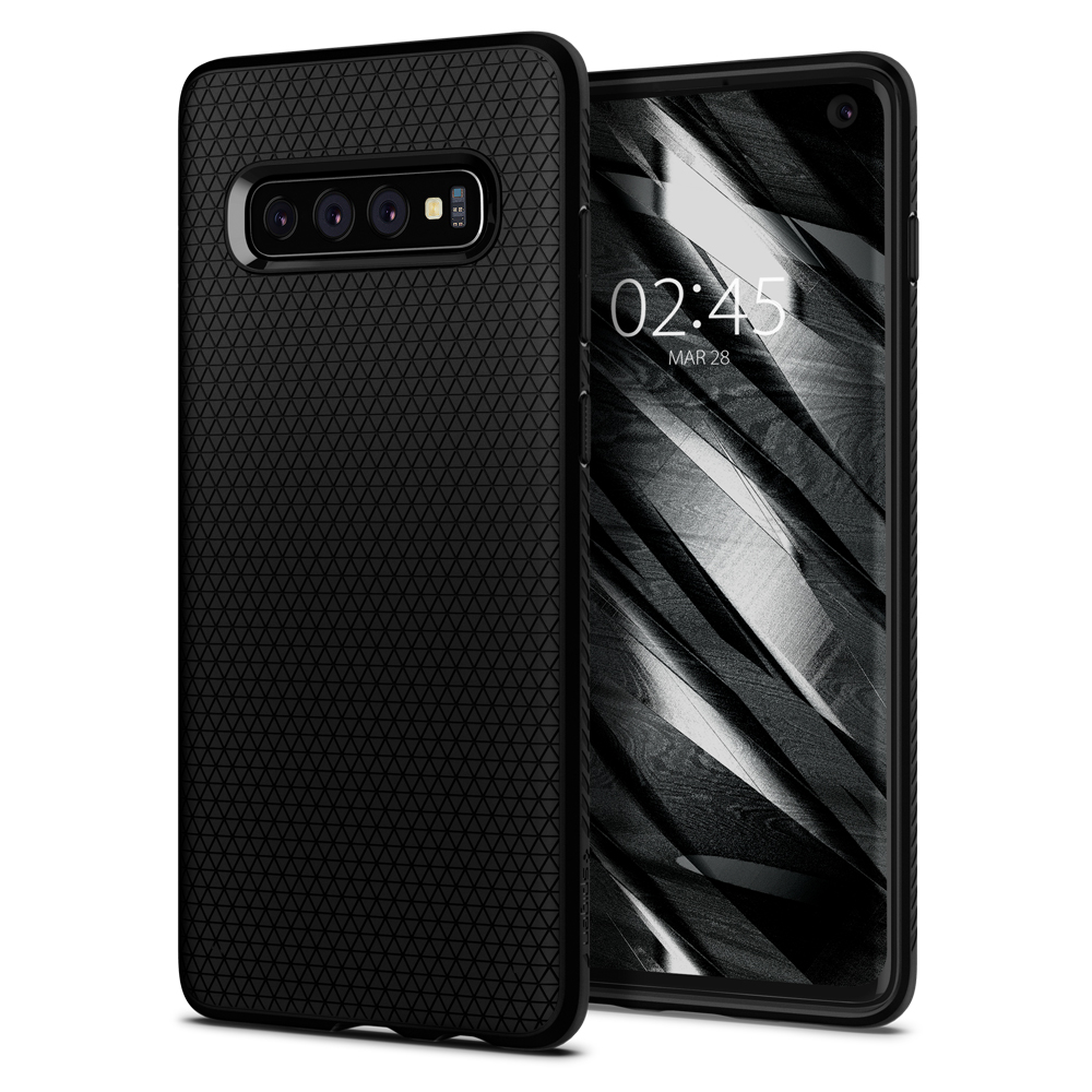 100% Original Liquid Air Series Matte Black Anti-Slip Case For Samsung Galaxy S10 / S10 Plus / S10+ / S10E