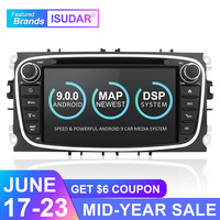 Isudar Car Multimedia Player Android 8.1 GPS 2 Din car dvd player for FORD/Focus/S MAX/Mondeo/C MAX/Galaxy wifi car radio DSP
