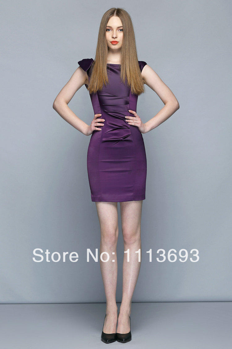 High quality Runway spring and summer 2014 Pure Purple color Slim ...