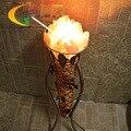 Аутентичные S класса железа ротанга кристалл соли кристалл спальня лампа прикроватная лампа ночник настольная лампа Книга Света
