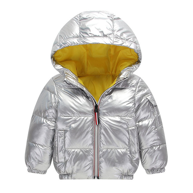 a83cf0495 2018 Children Winter Jacket For Kids Girl Silver Boys Fashion Hooded ...