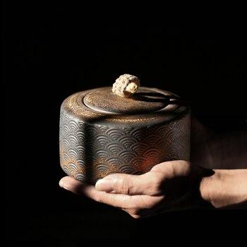 TANGPIN, contenedores de té de cerámica japonesa, lata de té de Porcelana...