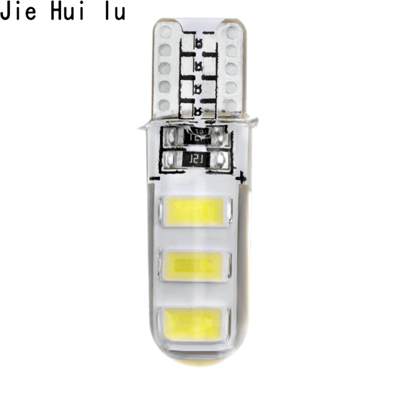 T10 W5W WY5W 192 168 6 SMD 5630 5730 LED Bulb Silica Gel Waterproof Wedge Light Silicone Shell Car Turn Side Light Marker Lamp