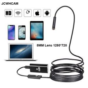 Image 1 - 8mm 2/3/5 m wifi endoscópio câmera 720 p/1080 p mini câmera de inspeção à prova dusb água endoscópio usb ios endoscópio para iphone