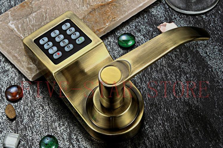 NEW luxury antique brass digital password door lock apartment safe lock  free shipping-in Locks from Home Improvement on Aliexpress.com | Alibaba  Group - NEW Luxury Antique Brass Digital Password Door Lock Apartment Safe