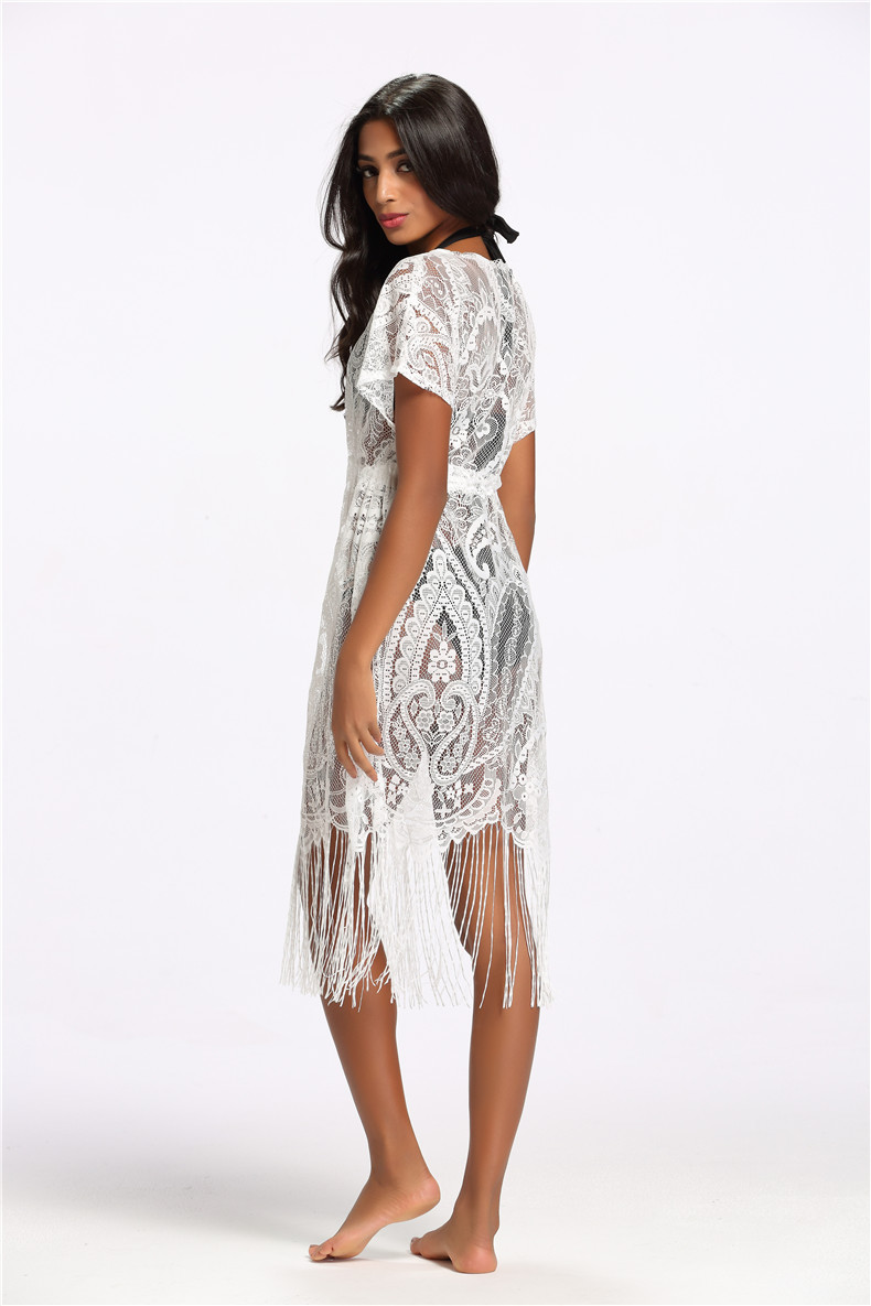 be9f3ab652cc6 ... Cover ups Hollow Out Fringe Beach Wear Bathing Suit Female Tunic Sexy  Summer Swimwear Dress Women Swimsuit Pareo. 40% Off. 🔍 Previous. Next