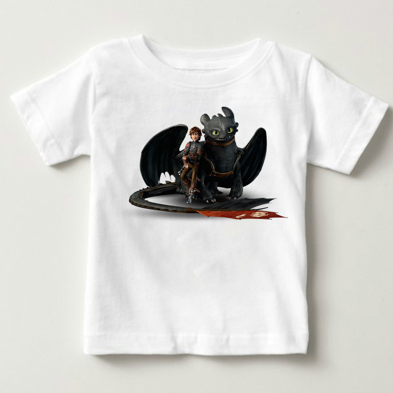 2019Fashion Men Tshirt How To Train Your Dragon Young T-Shirt Fitted Fall O Neck Fabric Tops Tees Toothless White T-shirt