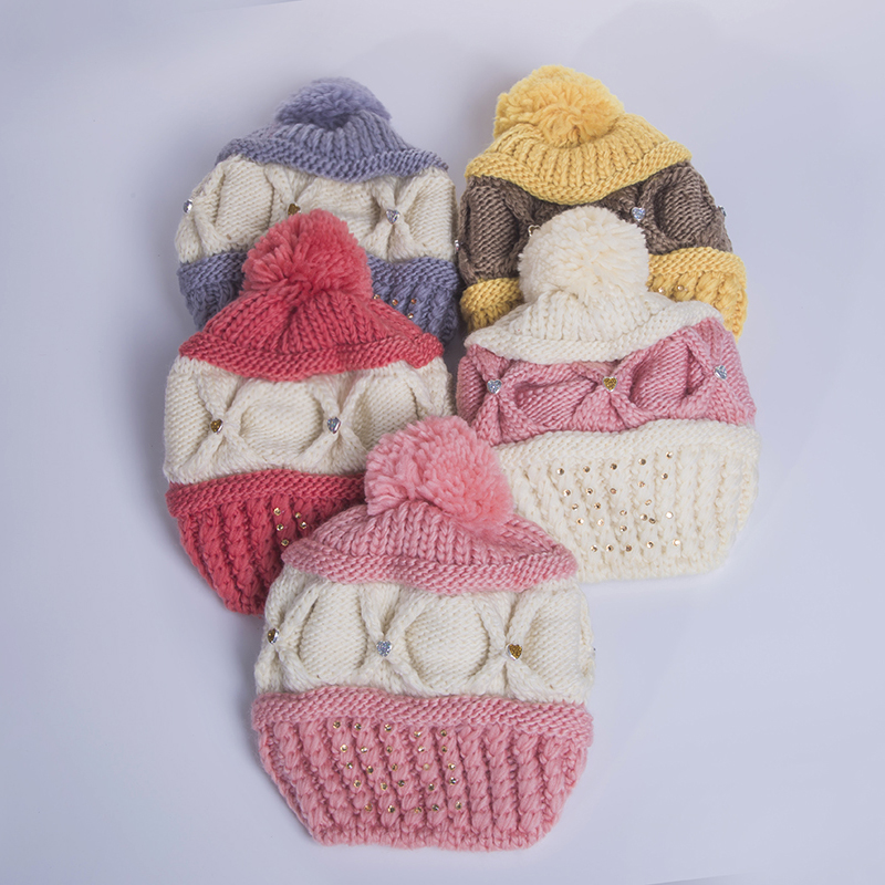 5efb3ba5aed Female Casual Winter Hat Cotton Women s Hats Mother Gift Skullies Beanies  Multicolor Pink Red White Yellow Gray-in Skullies   Beanies from Apparel ...