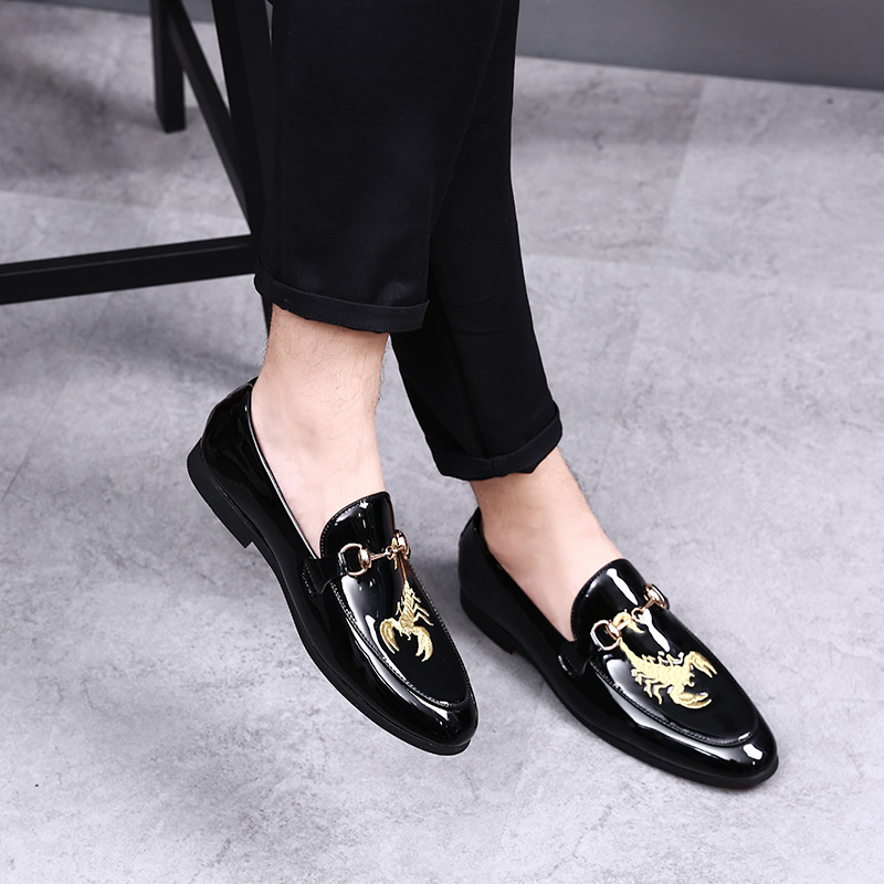 Mocassins Bateau La Top 47 En 46 Cuir on 48 Casual Socks With Pu Taille High Chaussures Hommes Slip Penny Plus Black wPBq8xO