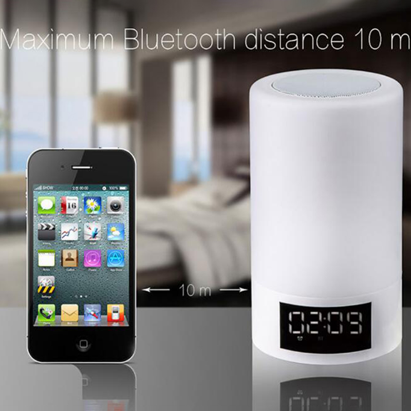 LED Colorful Night Light Touch Bluetooth Audio Smart Home Emotional Atmosphere Speaker Lamp - 3