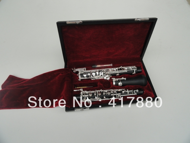 Cheap Student Series C key Oboe  17 Key Nickel Plated Bakelite Tube Oboe Musical Instrument With Case