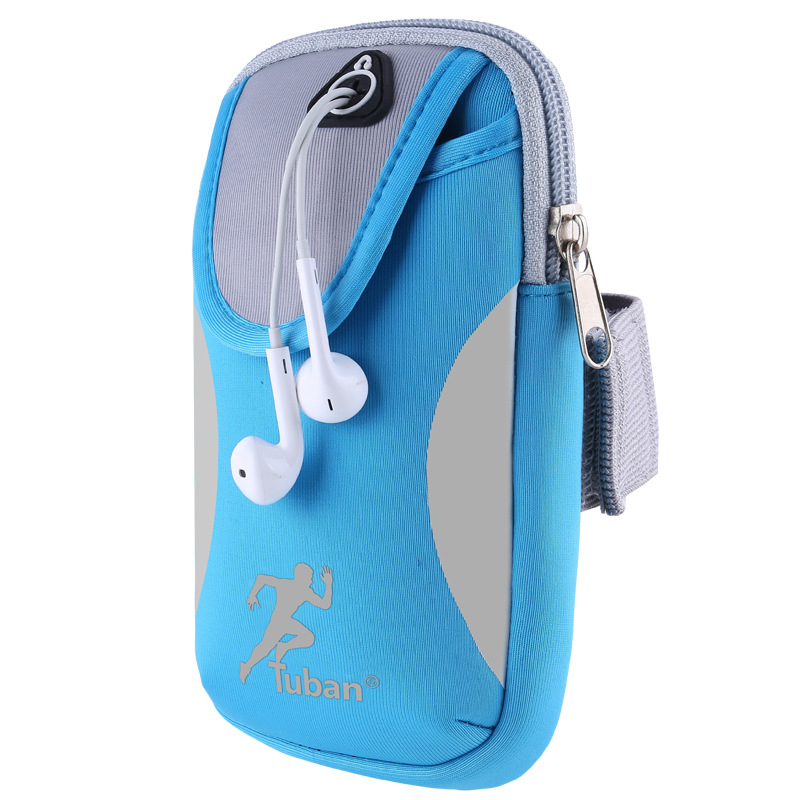 Sport Armband Hand Bag For IPhone 7 Plus Gym Running Pouch Arm Bag Mobile Phone Holder Bag With Headphone Hole Can Enjoy Music