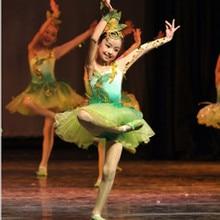 b6809f9a907f Children's grass performance costume spring dawn green dance dress lotus  pond moonlight jasmine open pompon skirt