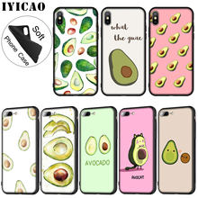 IYICAO Art Funny Tumblr avocado Soft Silicone Phone Case for iPhone XR X XS Max 6 6S 7 8 Plus 5 5S SE 10 TPU Black Cover(China)