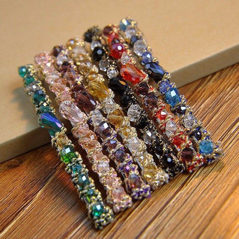Handmade Korean Fashion Crystal Stone Hair Clips