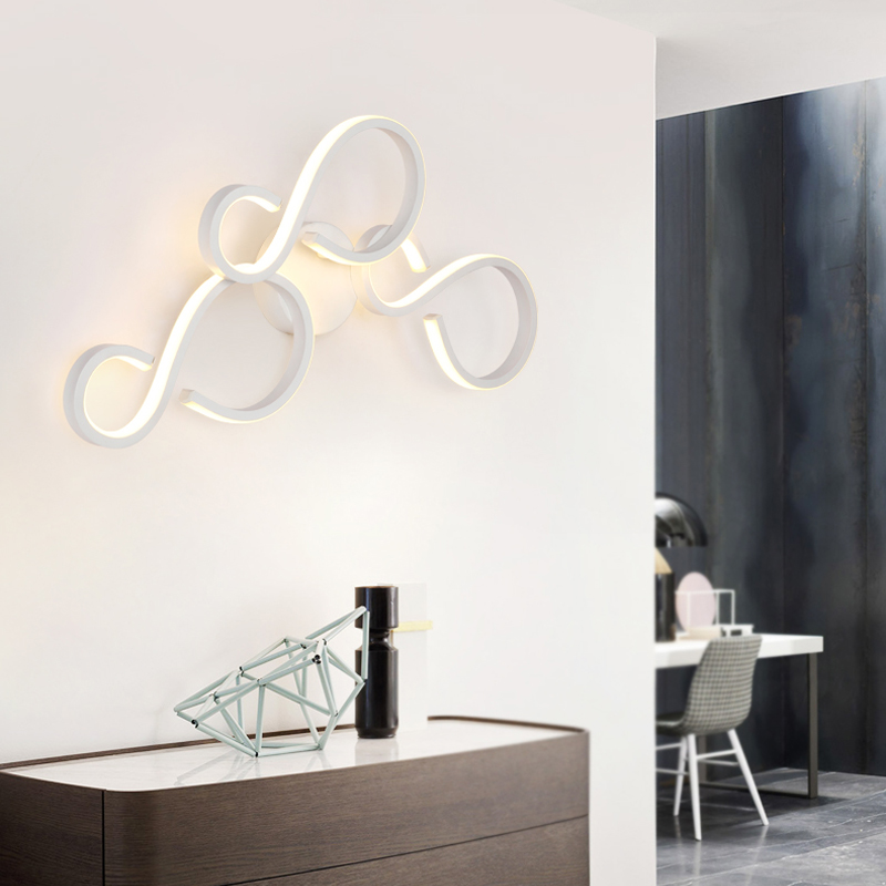 Creative led Wall Lamp Nordic Living Room Aisle Light Background Wall Light Simple Modern Bedside Lamp Bathroom led Mirror Light modern simple led wall lamp bathroom mirror lamps reading light living room bedroom aisle wall lights free shipping
