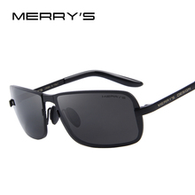 MERRY'S Brand Design Classic CR-39 Sunglasses Men HD Polarized Fashion Sun glasses Luxury Shades UV400 S'8722