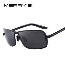 MERRY'S Brand Design Classic CR-39 Sunglasses Men HD Polarized Fashion Sun glasses Luxury Shades UV400 S'8722