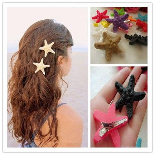 12pcs/lot Wholesale Starfish Hairclip Cute Girl's Hair ...