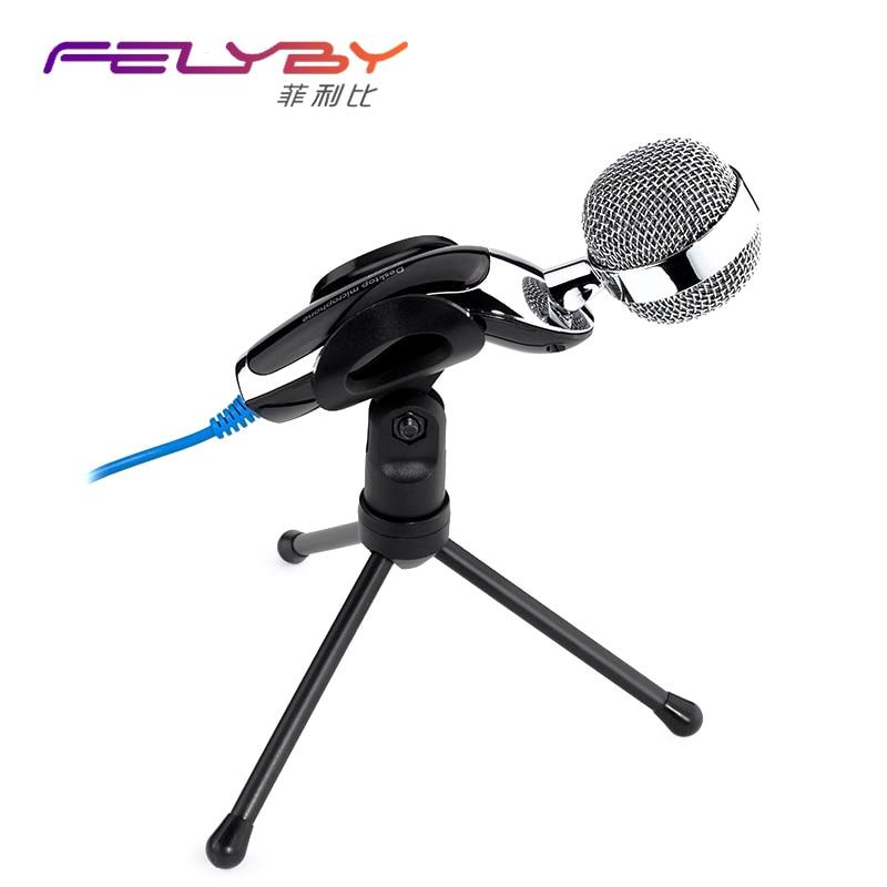 Mikrofoni i kondensatorit USB pastrues dixhital me cilësi të lartë - Audio dhe video portative