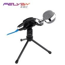 Высокое качество USB Clear цифрового звука и профессиональный usb конденсаторный микрофон с подставкой для Skype ПК ноутбуков Mac Запись