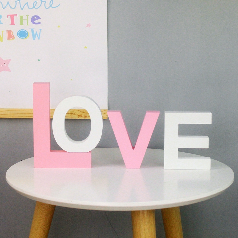 Colorful English Letters Decorative Wooden Wedding Decoration DIY Personalized Name Children 39 s Room Decoration Shooting Props in Decorative Letters amp Numbers from Home amp Garden