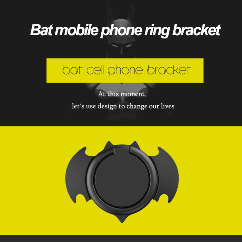 CHEERYMOON Bat 3 Finger Ring Holder 360 Degree Rotation Metal Anti Drop Car Magnetic Phone Ring Holder For All Smartphone Device