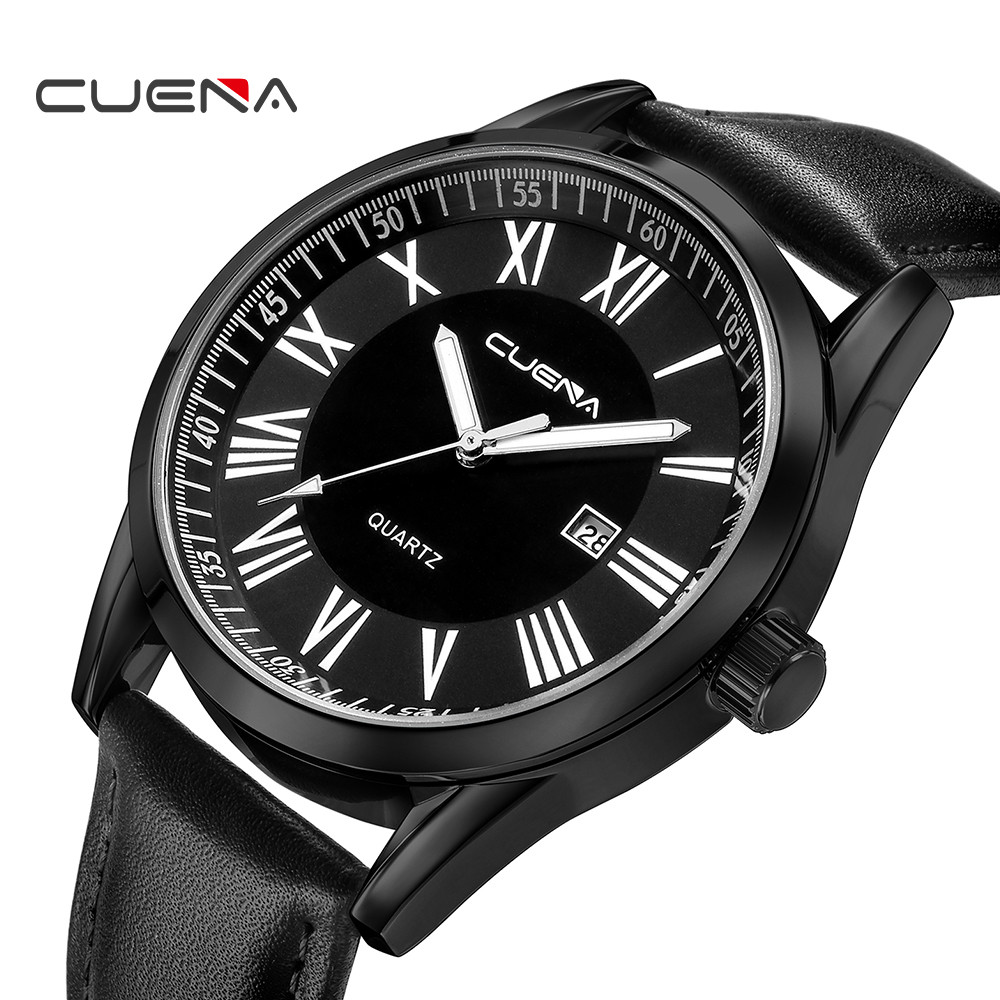 Luxury Watches Men Clock Daily Waterproof Leather Military Date Analog Quartz Wrist Watch Business Watches Casual Wristwatches