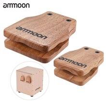 ammoon 2pcs Cajon Box Drum Large & Medium Drum Pad Compa
