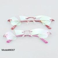 MEU serviço DOLI 8007 chegada nova atacado moda frame ótico sem aro mulheres óculos óculos óculos de miopia