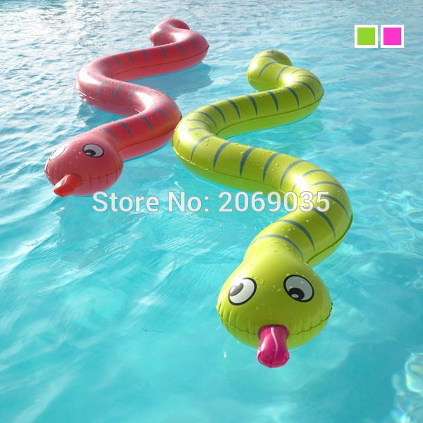 3pcs/set Children Inflatable Snake Pool Float 170cm Giant Green Kids Swimming Ring Serpent Noddle Floats Water Party Toy Piscina